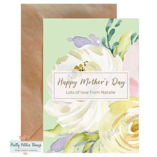 Personalized Watercolour Floral Card 3 - Happy Mother's Day