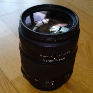 Sony 28-75mm f2.8 SAM lens for Sony Alpha or Minolta