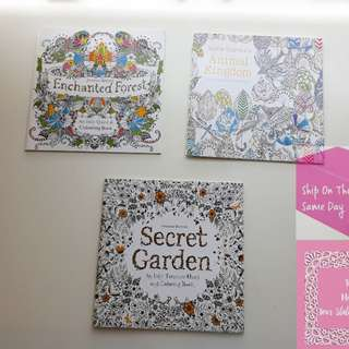 《READY STOCK》Secret Garden Animal Kingdom Enchanted Forest Colouring Books
