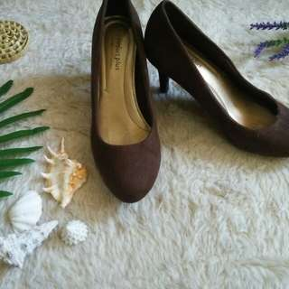 Comfort plus brown stilletos