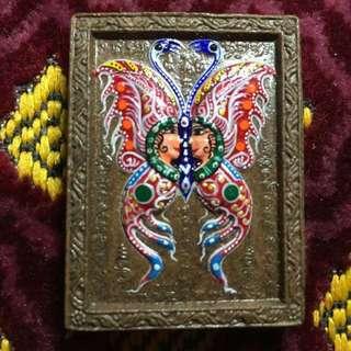 Thep jam leng mongdum butterfly amulet
