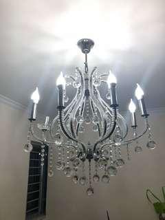 水晶燈 crystal ceiling lamp