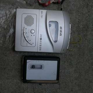 步步高卡式錄音帶播放機 送便攜式雜牌卡式錄音帶播放機一個 兩樣嘢都係包正常可用