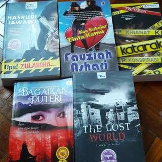 Novel Oop! Zulaikha   Kan Kukejar Cinta Kamu   Katarak   Bagaikan Puteri   The Lost World