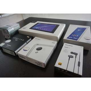 Sony mobile / accessory empty boxes