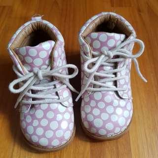 H&M Baby Girl Soft Pink Polkadot Boots