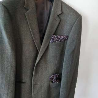 Topman Green Moss suit jacket