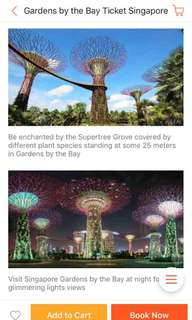 GARDENS BY THE BAY VOUCHERS FOR SALE! 800each only! 2pax