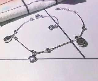 【925純銀】Fashion Silver Anklet 可愛哈哈笑純銀腳鏈
