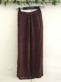 Long hippie split skirt