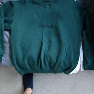 Homie winter Green jumper