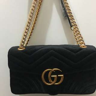 Gucci Marmont Black Suede