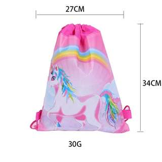 💕Unicorn party supplies - Unicorn draw string goodie bags / backpack/ party Bags favors