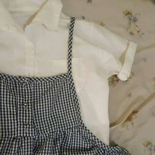 Checkered jumper dress