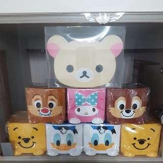 迪士尼收納盒+拉拉熊筆筒