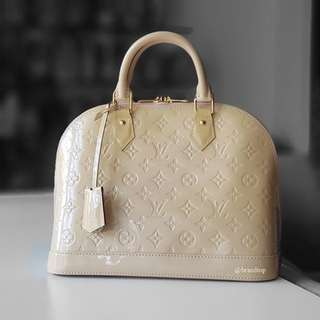 Authentic Louis Vuitton Vernis Alma PM M90062 LV