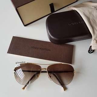 Authentic Louis Vuitton Petite Viola Pilote Sunglasses LV