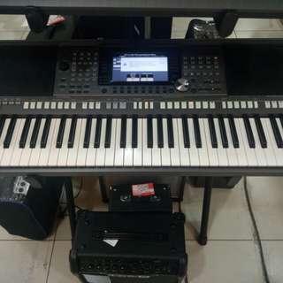 Keyboard Yamaha PSR S970+Adaptor Bisa Dicicil Tanpa Bunga