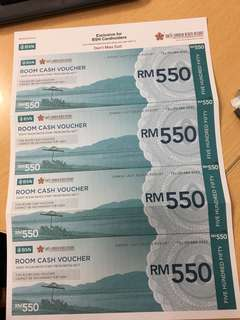 Room cash vouchers for Swiss Garden Beach Resort,Lumut