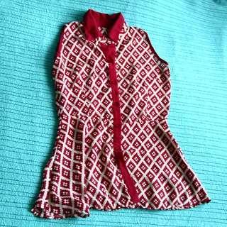 Ladies' Printed Semi Sheer Top