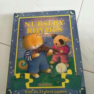 Young children Nursery Rhymes Jigsaw book
