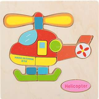 CZ03 - Kid Wooden Puzzle (Helicopter)