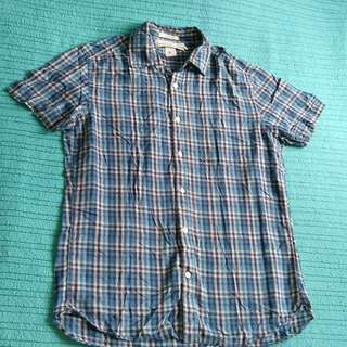 L.O.G.G. (H&M) Ladies' Checkered Plaid Cotton Polo