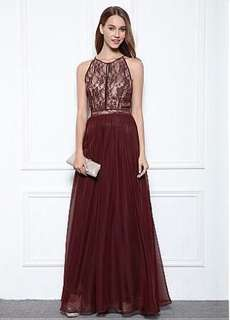 BLACK Miss Anne Formal Gown