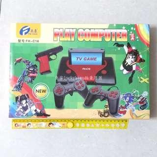 【飛豪 TV GAME 電視遊戲機 FH-C16】二手把 槍 主機 卡帶