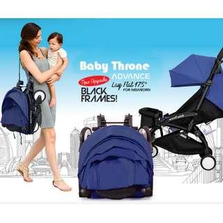 ORIGINAL Blue Baby Throne Stroller – Advance (Ultralight weight)