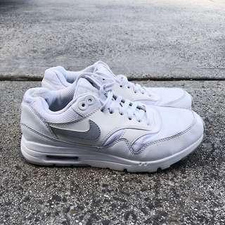 All white Nike Air Maxes