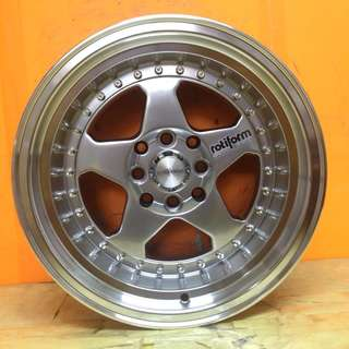 15 inch SPORT RIM ROTI FORM ROC RACING WHEELS