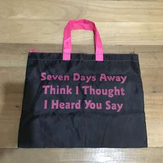 Daiso Seven Days Bag