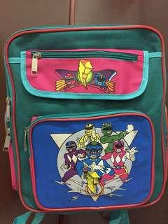 Power rangers school bag
