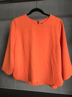 TOPSHOP ORANGE BLOUSE like new