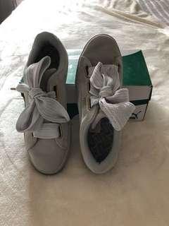Puma Basket Heart Sneakers in Velvet Grey