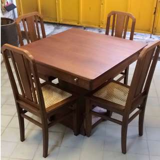 Burmese Teakwood Mahjong Table