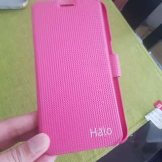 S7 edge Hot pink Halo casing with free matte gold incipio casing
