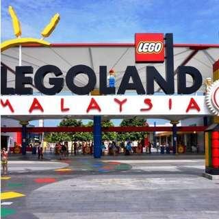 Legoland Malaysia Adult tickets x2(valid till 23jun18)