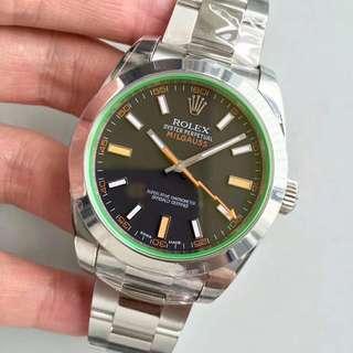 環亞  Rolex Milgauss 116400gv-72400 40mm AR工廠新版 綠玻璃 面交