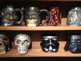 Creative design mugs cup display ashtray wonder woman captain america iron man batman skull and more