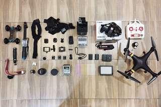 Canon 60D / Gopro Hero 3+ / Drone Syma