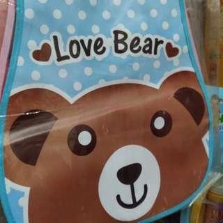 小熊圖案防水圍兜