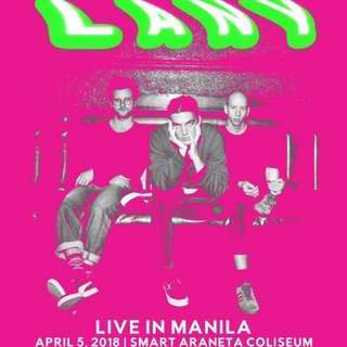 LANY Box Ticket Day 2 RUSH SALE