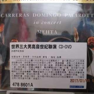 三大男高音(帕華洛帝卡列拉斯多明哥)1990義大利世足盃聯演20週年(CD+DVD)全新未拆封