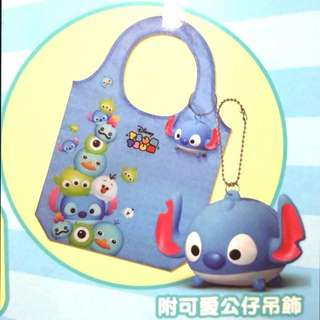 Tsum Tsum 史迪奇 購物袋 附小吊飾