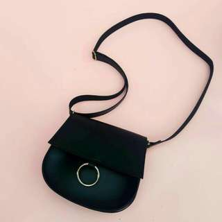 Tas mini Moon Bag Hitam