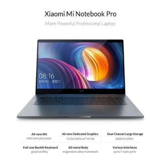 "Xiaomi Mi Notebook Pro 15.6"" i7 16GB RAM MX150 256GB SSD"