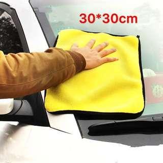 (2條)超纖細吸水加厚洗車布30*30cm 不褪色不掉毛