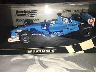 1:18 Minichamps Benetton B201 Renault F1 Car #7 Fisichella